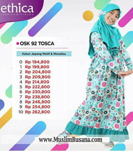 Gamis Anak - Ethica OSK 92 Tosca